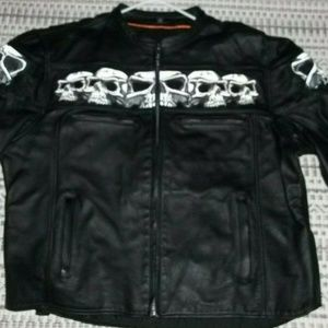 FIRST CLASSIC LEATHER GEAR  MOTOR CYCLE JACKET 4X